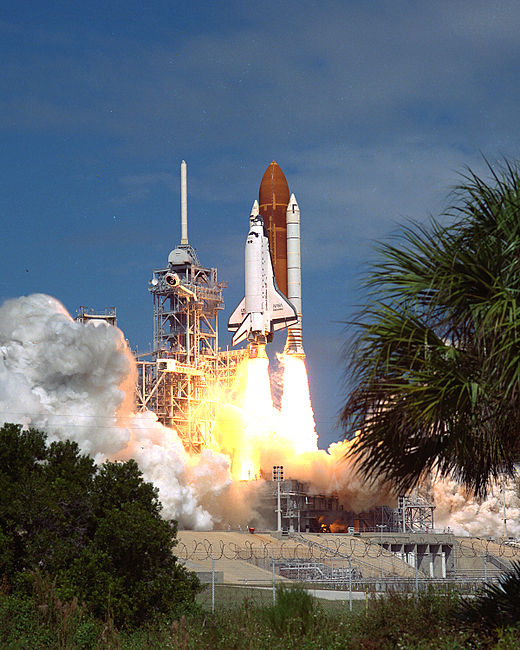 STS-26 launches from Kennedy Space Center, 29 September 1988.